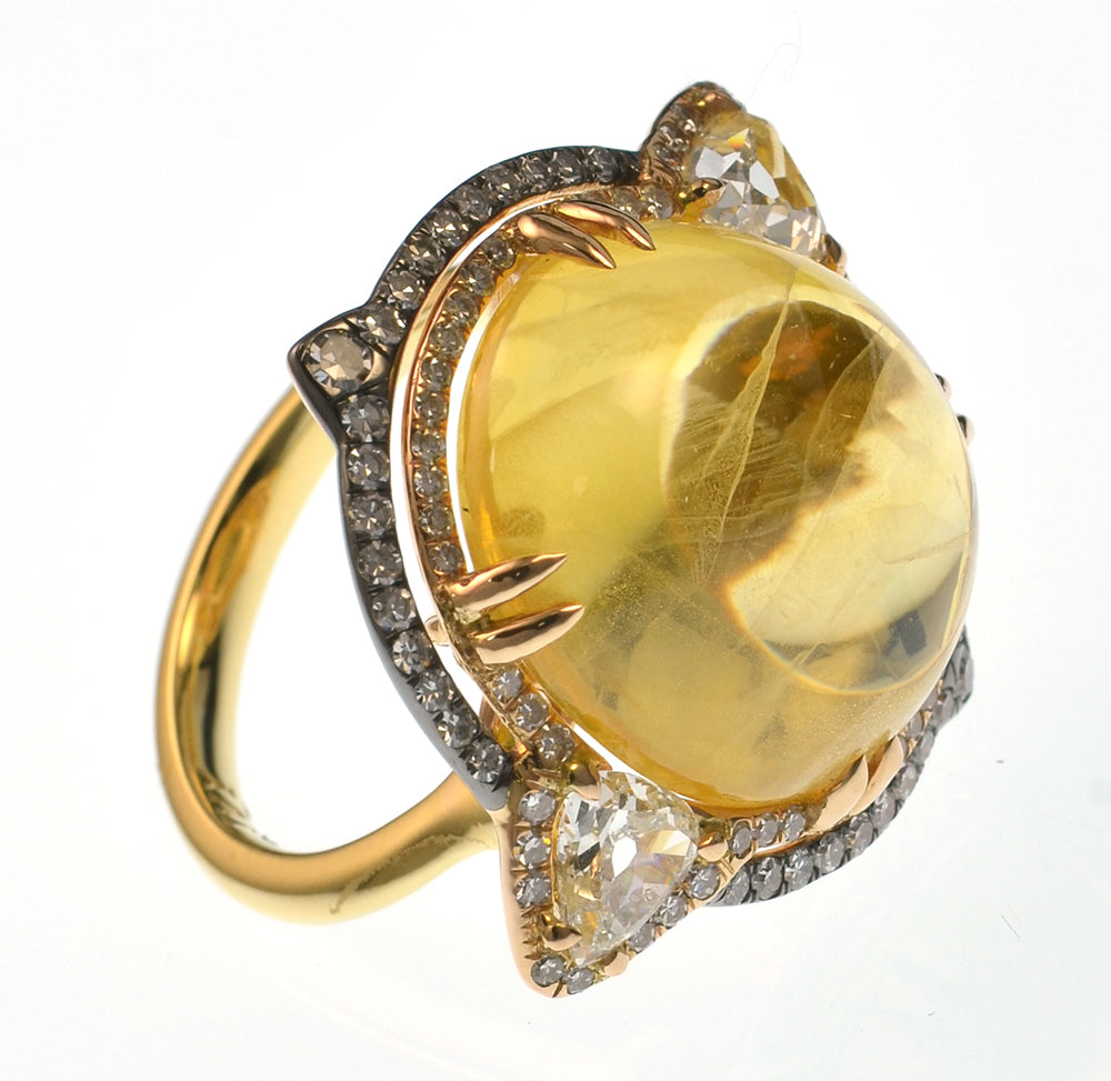 Yellow Sapphire IVY Ring
