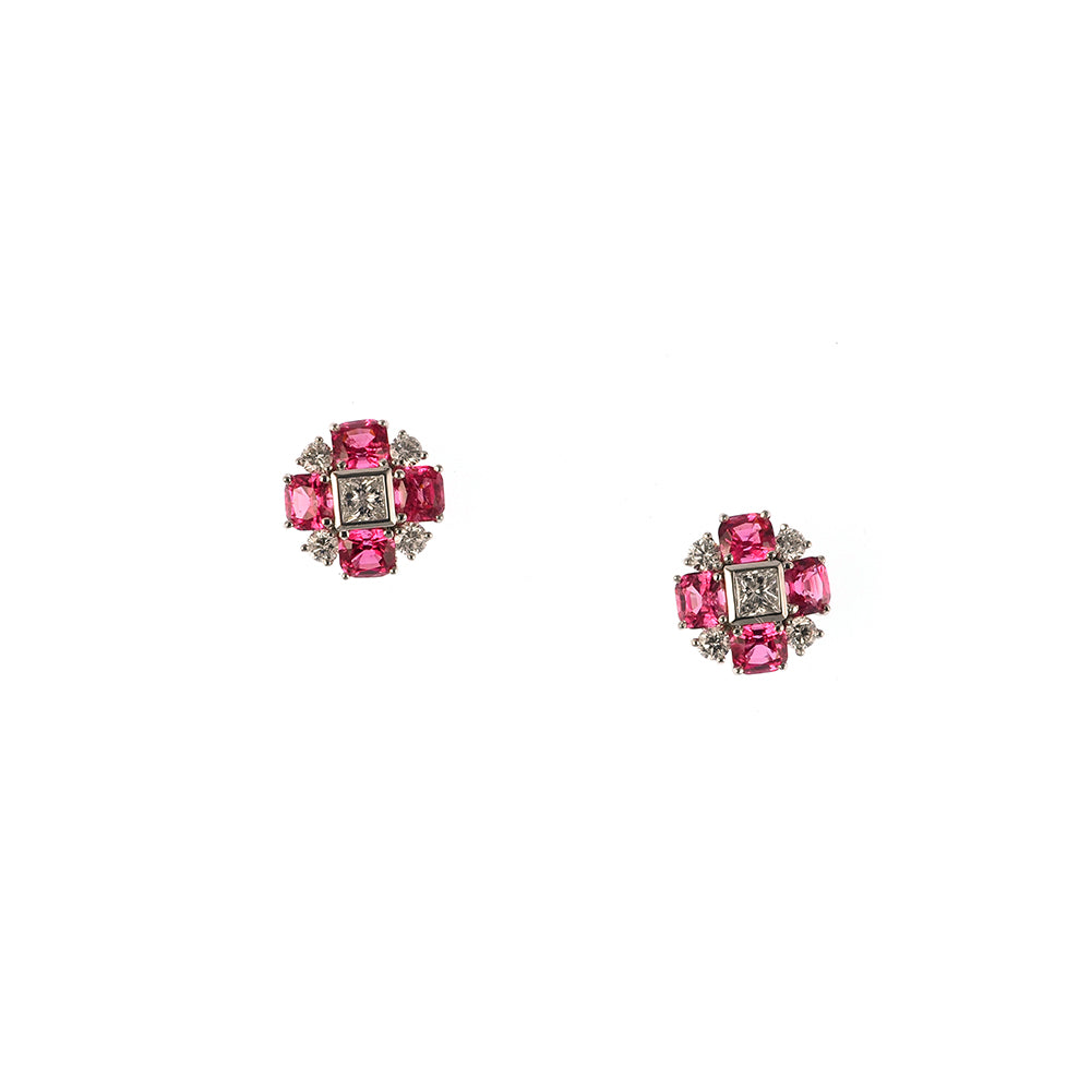 Hot Pink Spinel Earrings