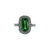 Rare Tsavorite with Cushion Diamond Ring