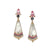 Obelisk Earrings of Pink and Lavender Spinels