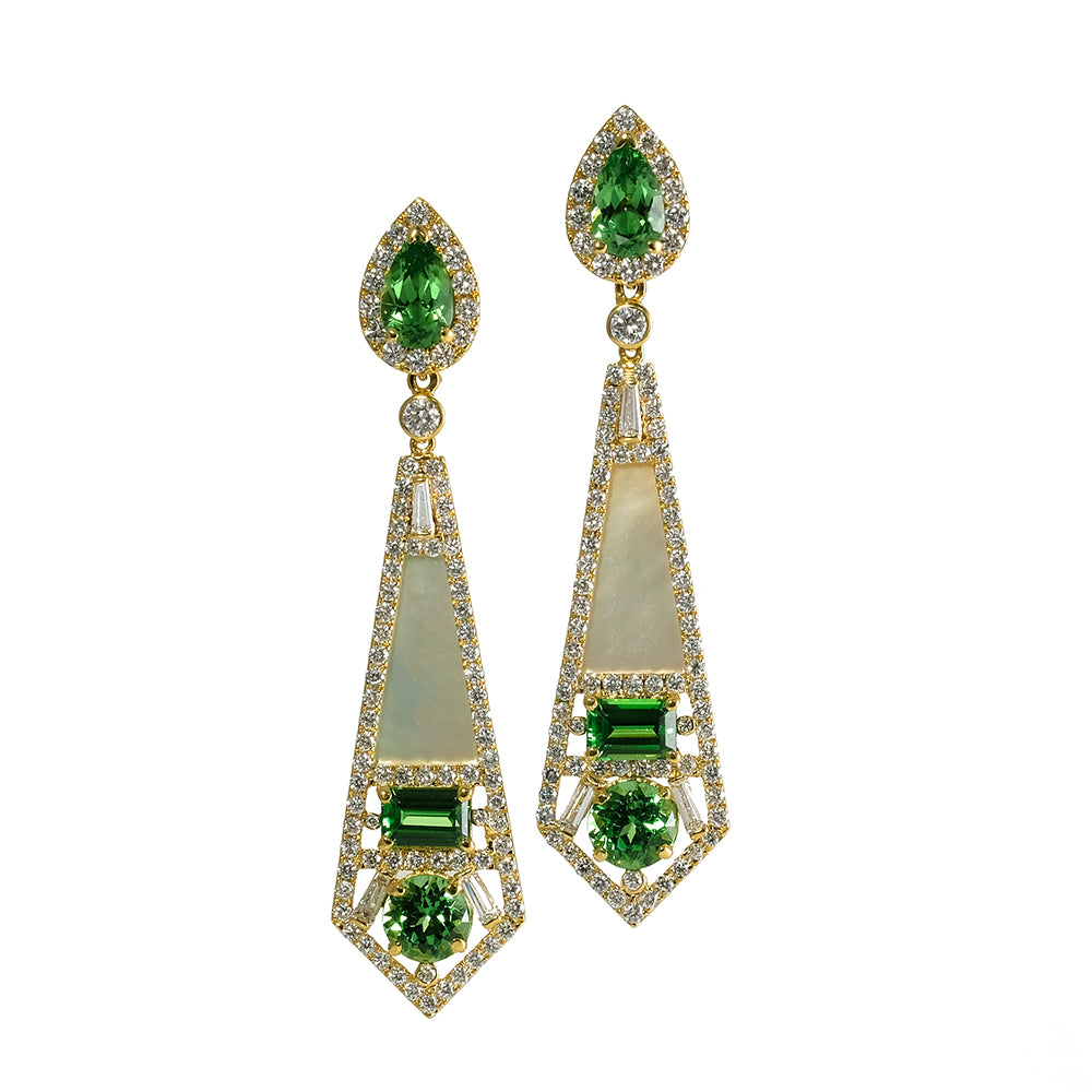 Obelisk Tsavorite Earrings