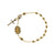 Rosary Bracelet with Miraculous Medal and Cross in Yellow Gold