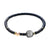 Flexible Bracelet with Meteorite, Silver, Rose Gold Ball and Gold Loops