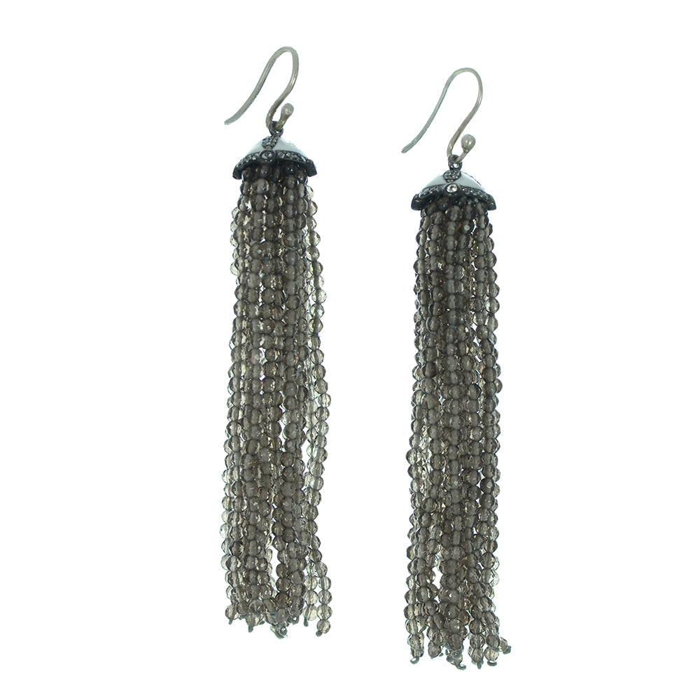 Smokey Quartz Beads Tassel
