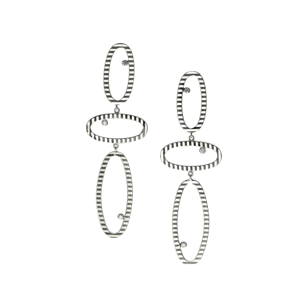 Oval Links and Diamond Earrings