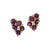 Star Ruby and Diamond Earrings