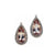 Morganite Pear and Diamond Dangler