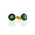Green Jade with Black and White Diamond Cufflinks