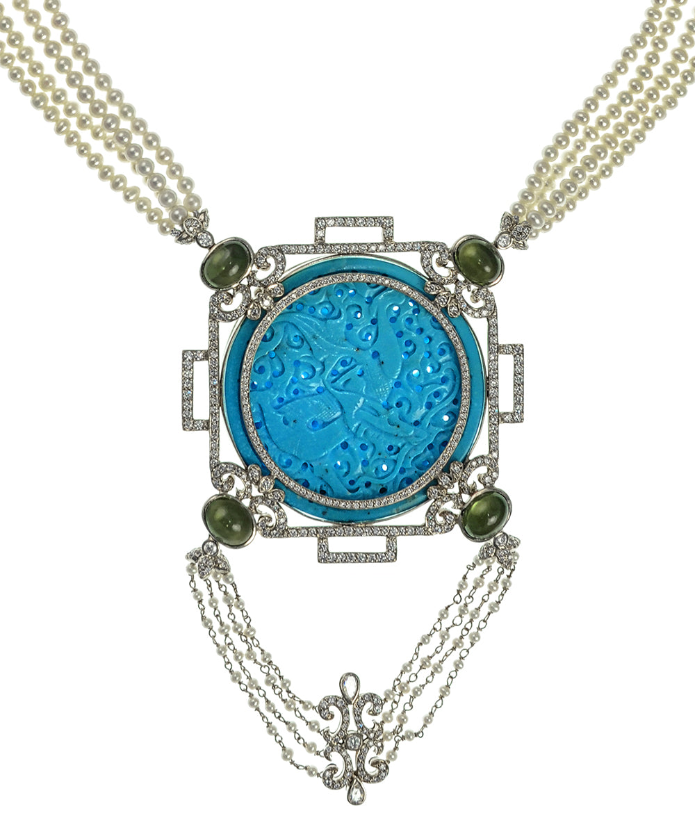 Turquoise Art Deco Necklace
