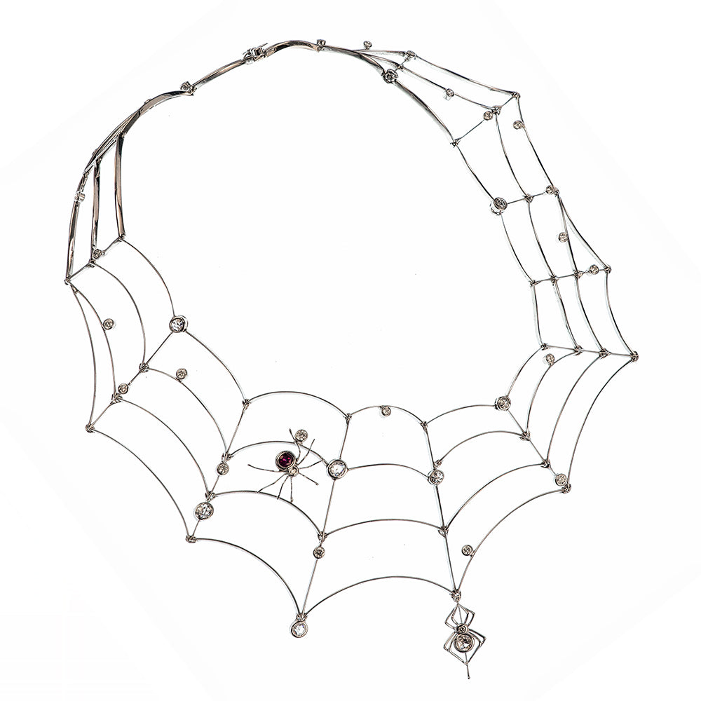 Web and Spider Necklace
