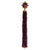 Star Ruby and Diamond Pendant with Rhodolite Garnet Tassel