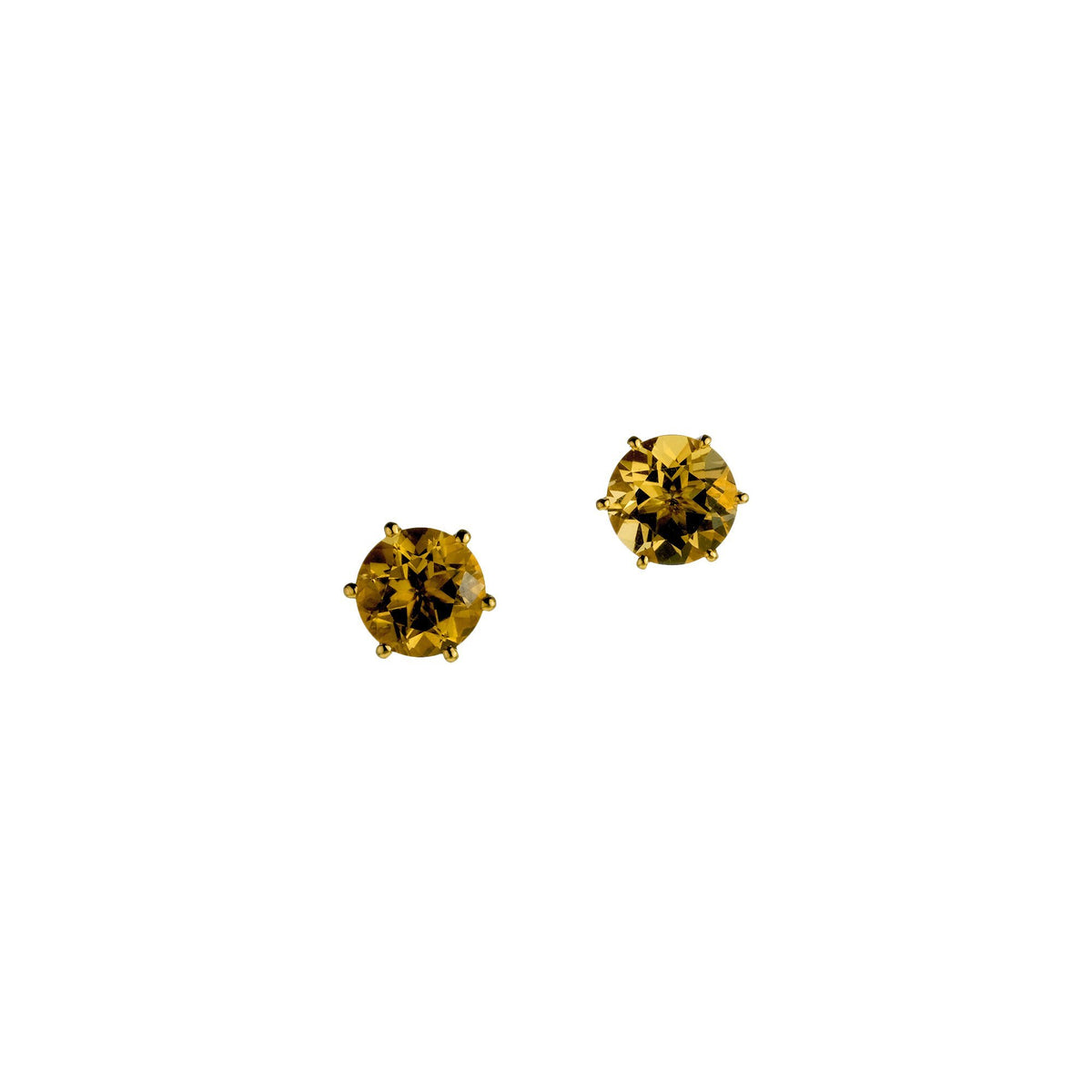 Golden Citrine Studs, 3.05 carats
