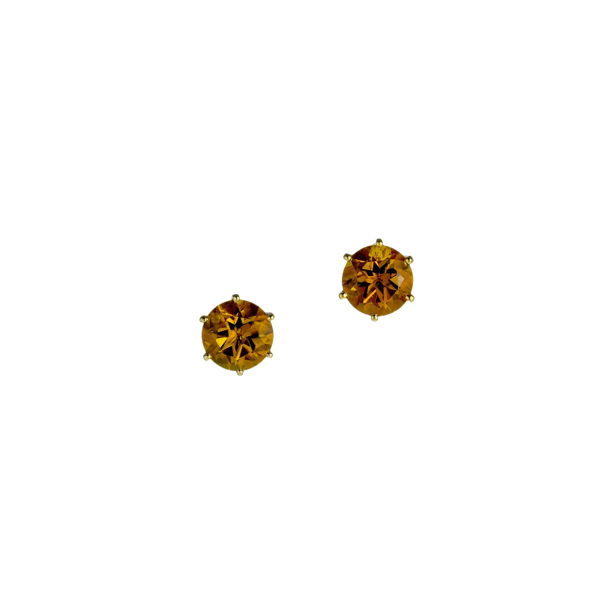 Golden Citrine Studs, 2.61 carats