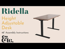 Load and play video in Gallery viewer, Ridella Height Adjustable Desk