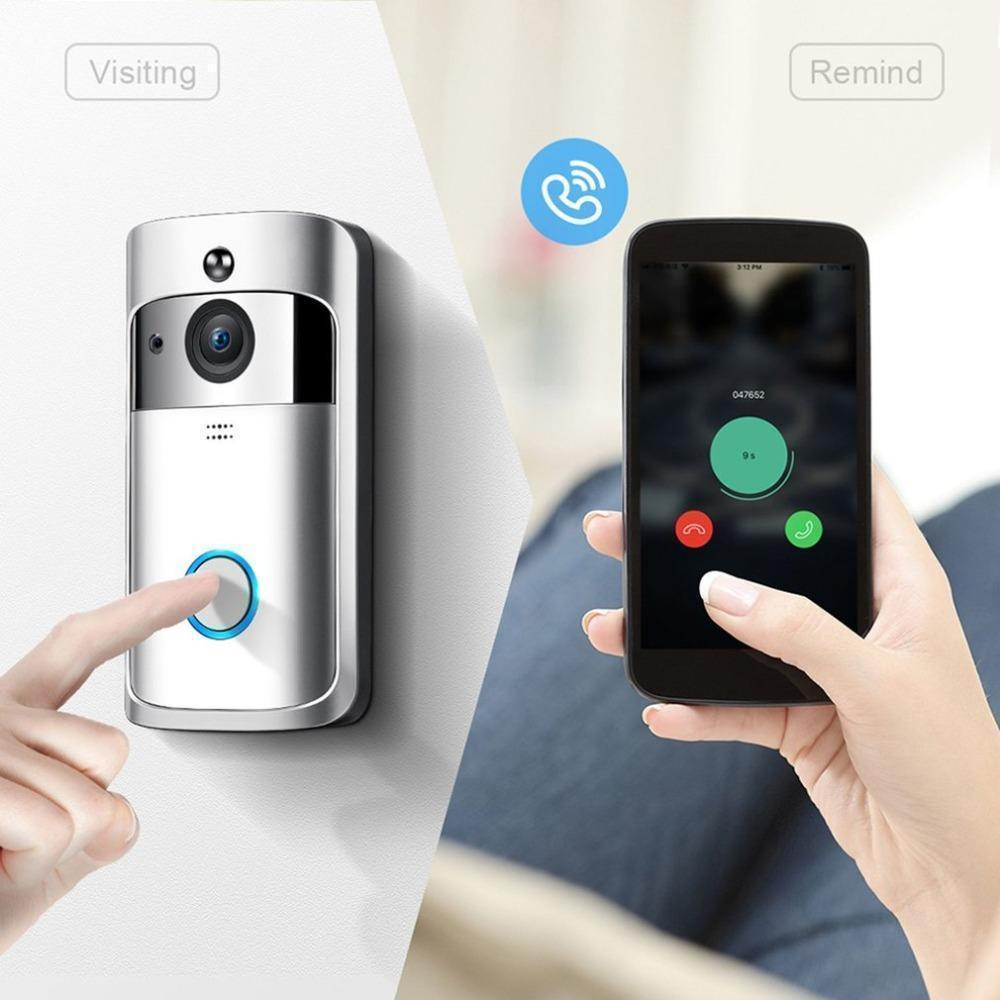 Professional Home Security Wireless 720P/1080P Video Doorbell HD Infrared Night Vision Motion Detection Alarm Doorphone