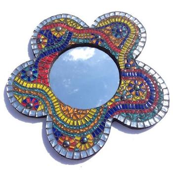 GET CREATIVE WITH THIS GORGEOUS MOSAIC MIRROR PROJECT