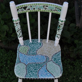 HOW TO MAKE A MOSAIC CHAIR