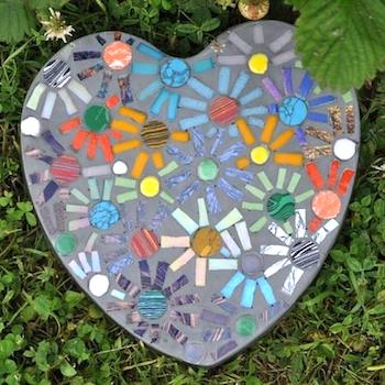 How to Make A Mosaic Stepping Stone (indirect method)