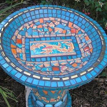 Learn How to Make a Mosaic Birdbath