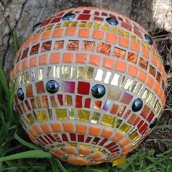 Learn How To Make A Mosaic Glazing Ball The Mosaic Store