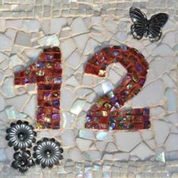 HOW TO MAKE A MOSAIC HOUSE NUMBER