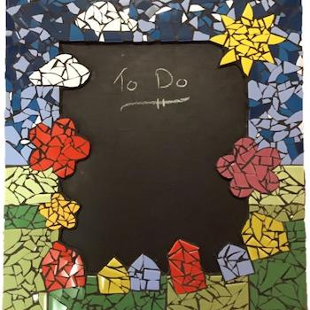 make a mosaic blackboard project