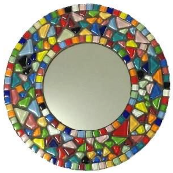 ROUND JELLY BEAN MOSAIC MIRROR KIT - BEGINNERS / CHILDRENS