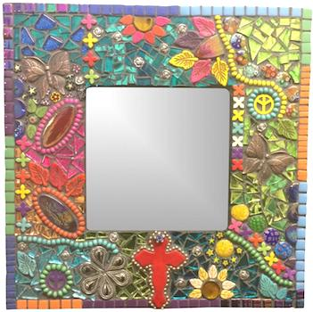 Learn How to Make This Mixed Media Mosaic Mirror