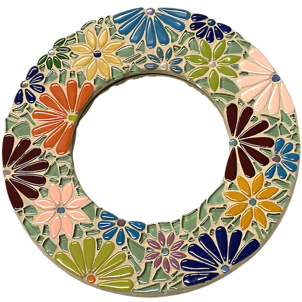 Learn How To Make This Mosaic Flower Mirror
