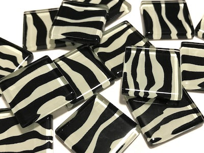 Animal Skin  Glass Tiles 2.5cm
