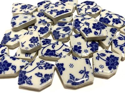 Blue & White Ceramic Bits