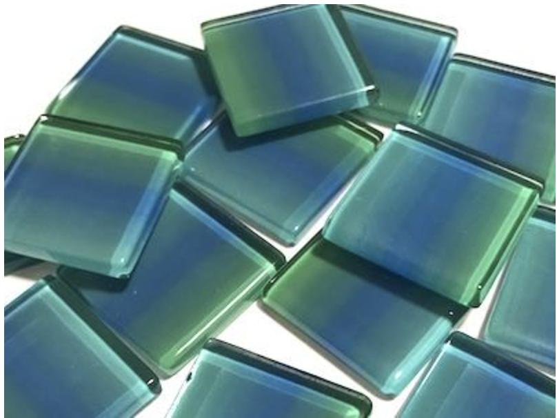 Colour Combination  Glass Tiles 2.5cm