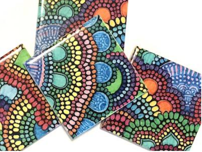 Mandala Inspired Glass & Ceramic Tiles