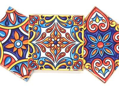 Mexican & Portuguese Inspired Ceramic Tiles