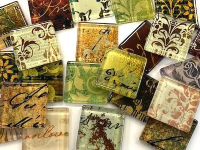 Vintage Glass Tiles 2.5cm