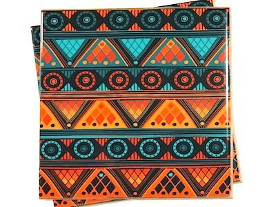 Tribal Ceramic Tiles 10x10cm