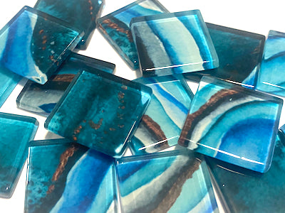 Agate Textures Glass Tiles 2.5cm