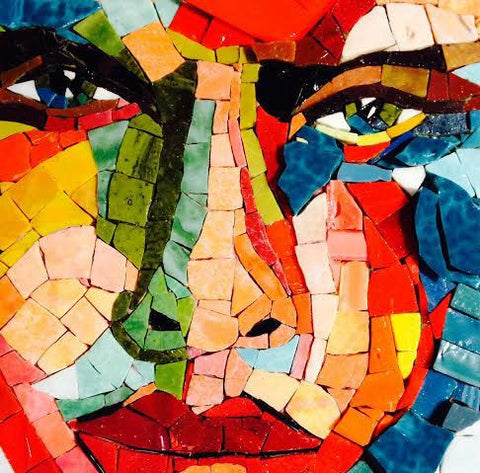 Mosaic Protrait by Beverly Less