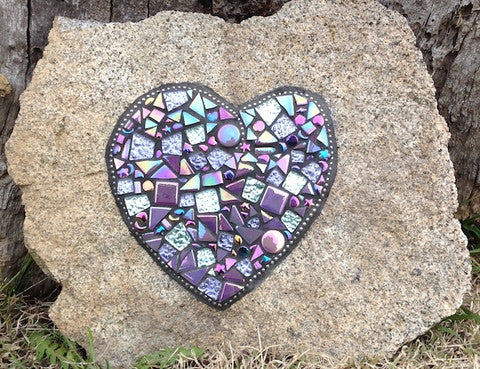 learn how to mosaic a rock