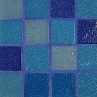 blue mosaic grout colour