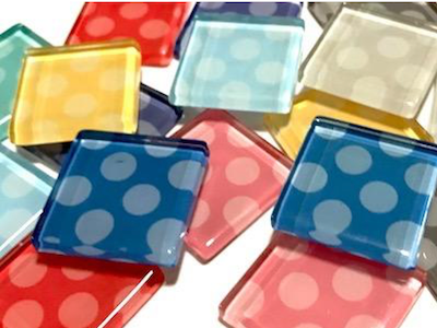 Dotted Glass Tiles 2.5cm
