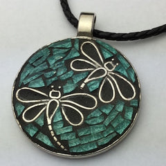 mosaic dragonfly pendant