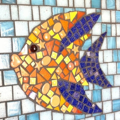 mosaic fish to plan your mosaic background
