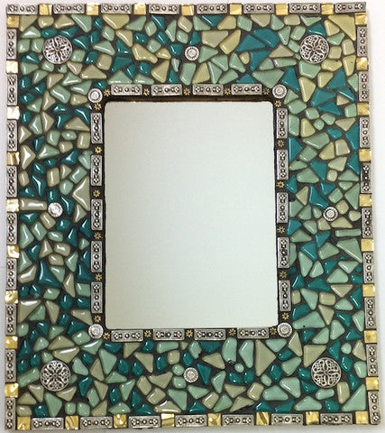 A Lesson In Mixed Media Mosaics Combining Metal Beads