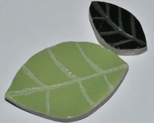 ceramic leaves for mosaics