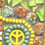 coloured beads grouted