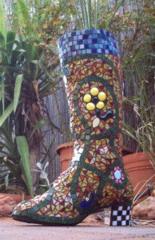 how to make a mosaic boot