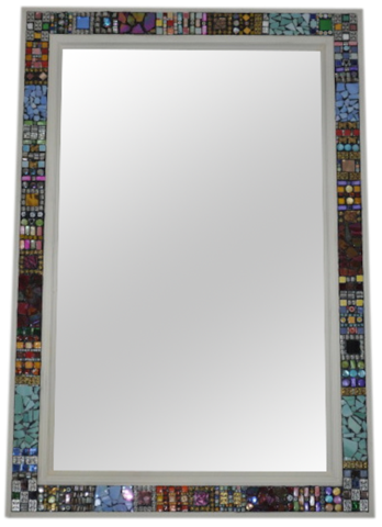 mastic used to create a mosaic mirror