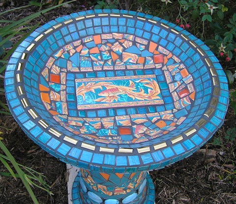Learn How To Make A Mosaic Birdbath Step By Step Project