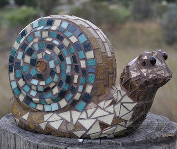 mosaic snail art craft project